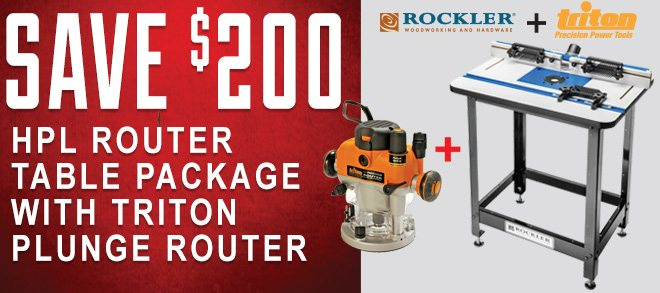 Save $200 on the HPL Router Table Package with Triton Plunge Router