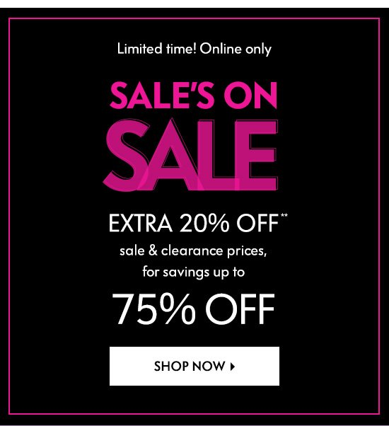 0c5add7174b Save more! EXTRA 20% off Sale & Clearance - Neiman Marcus Email Archive