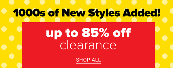 New markdowns - Up to 85% off Clearance. Shop All.