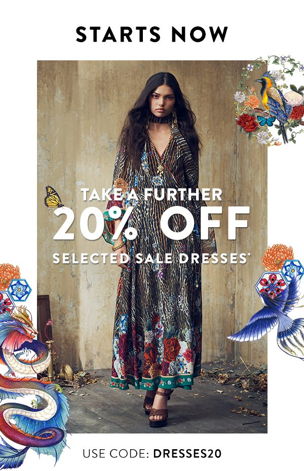 Take A Further 20% Off Sale Dresses*