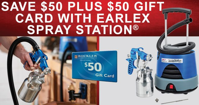 Save $50 Plus $50 Gift Card with Earlex Spray Station