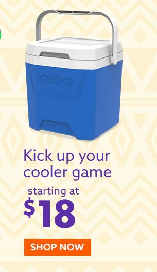 Coolers starting at $18