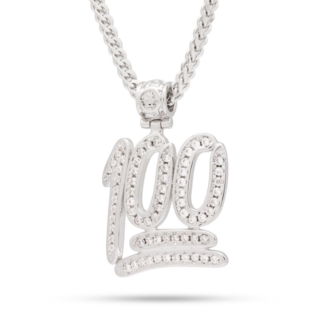 The White Gold 100 Emoji Necklace