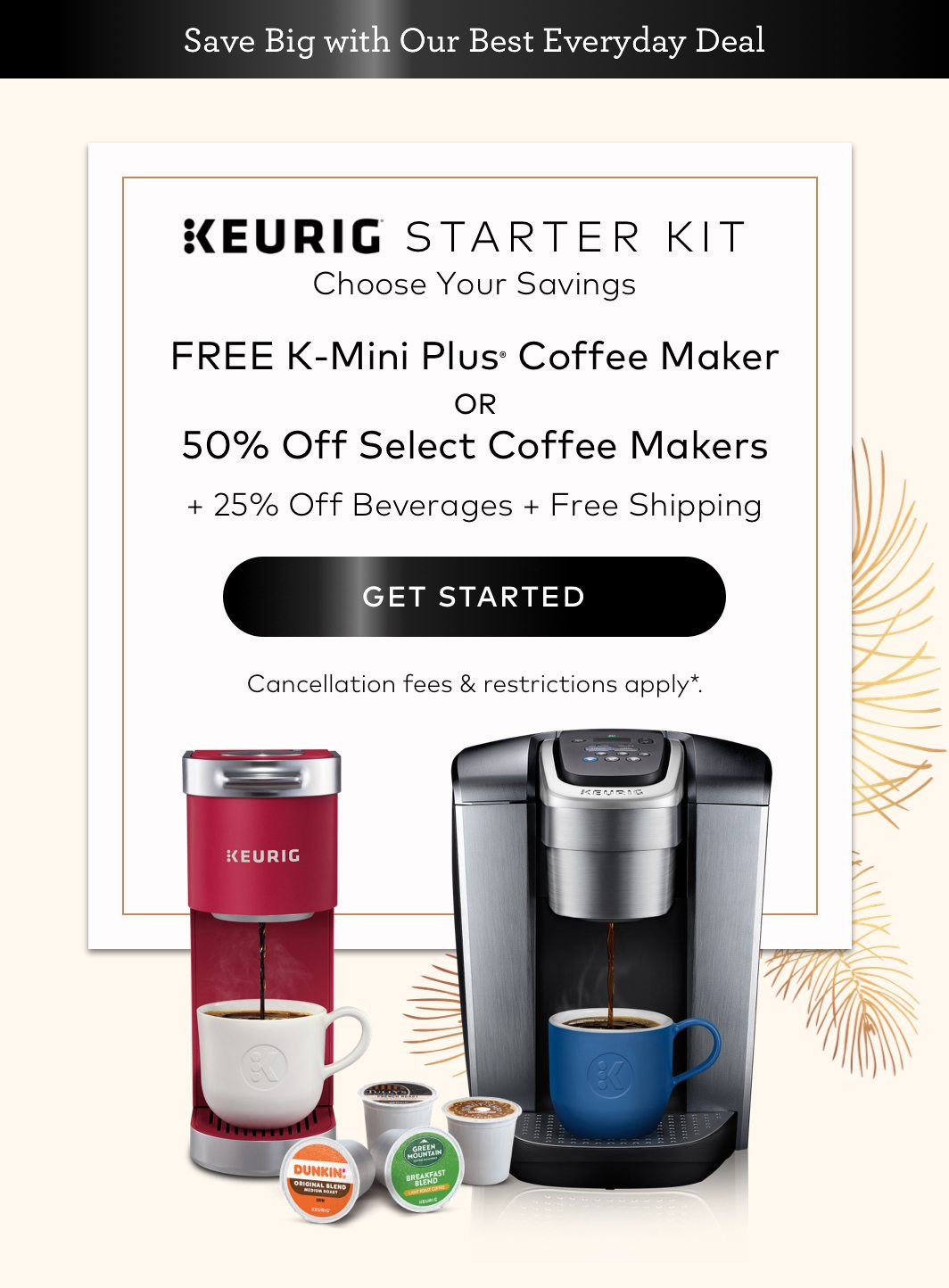 Keurig Starter Kit Savings