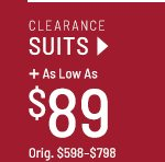 Clearance Suits as low as $89