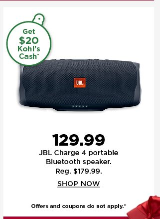 129.99 JBL charge 4 portable bluetooth speaker. Shop Now.