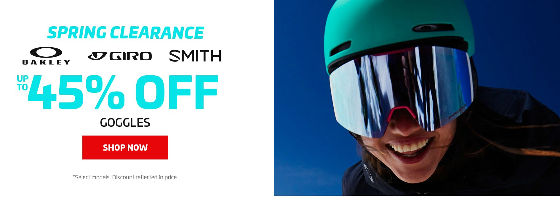 UP TO 45% OFF GOGGLES - FOOTER