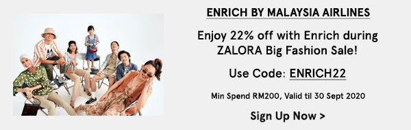 Enjoy 22% off Enrich by Malaysia Airlines
