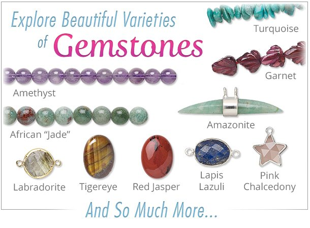 bdc054ec3 Shop our selection of beautiful gemstones. Why? We carry an impressive  variety of shapes: round, oval, rondelle, tubes and stars. Some of our best  sellers ...