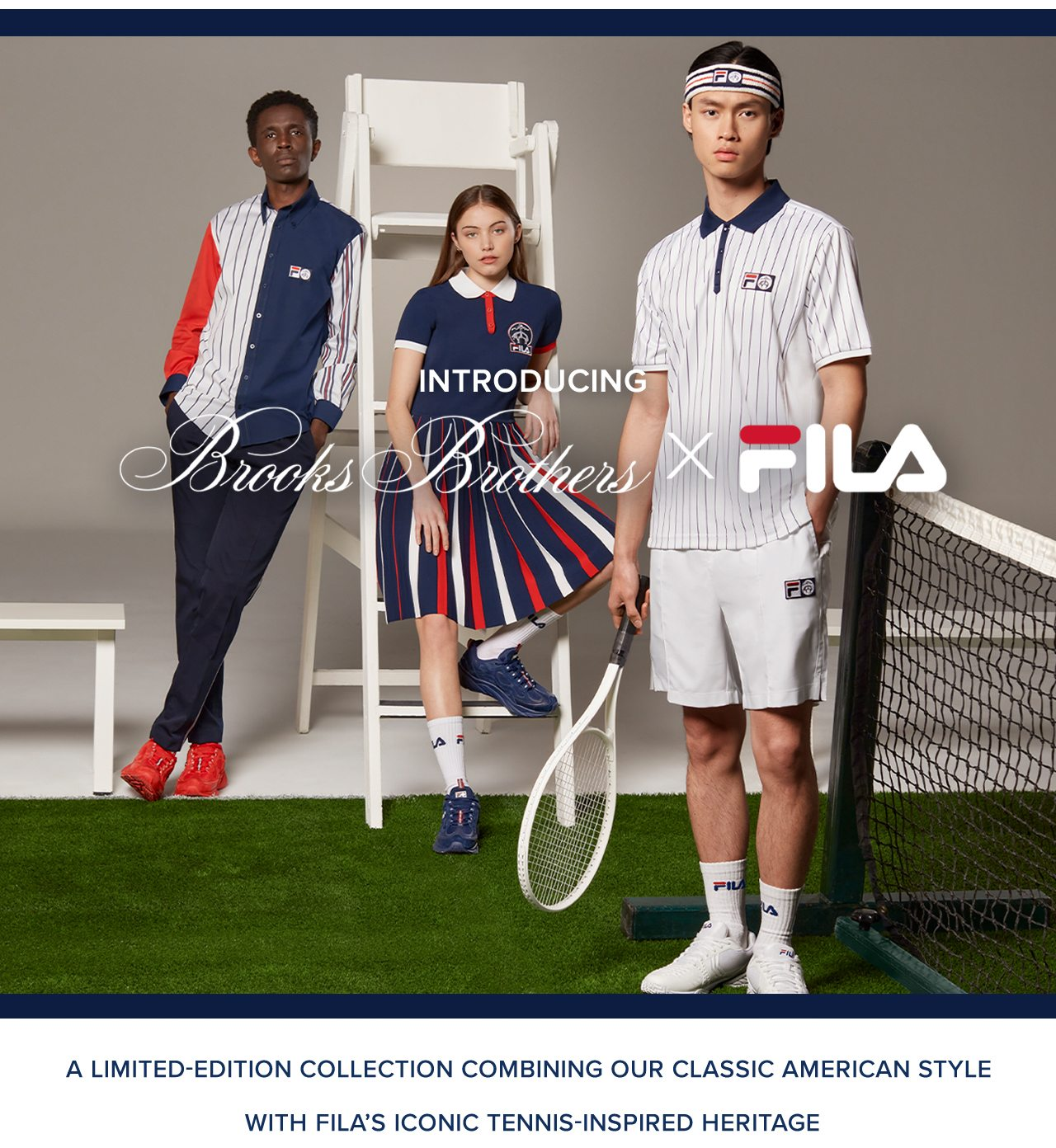 A Limited-Edition Collection Combining Our Classic American Style With Fila's Iconic Tennis-Inspired Heritage