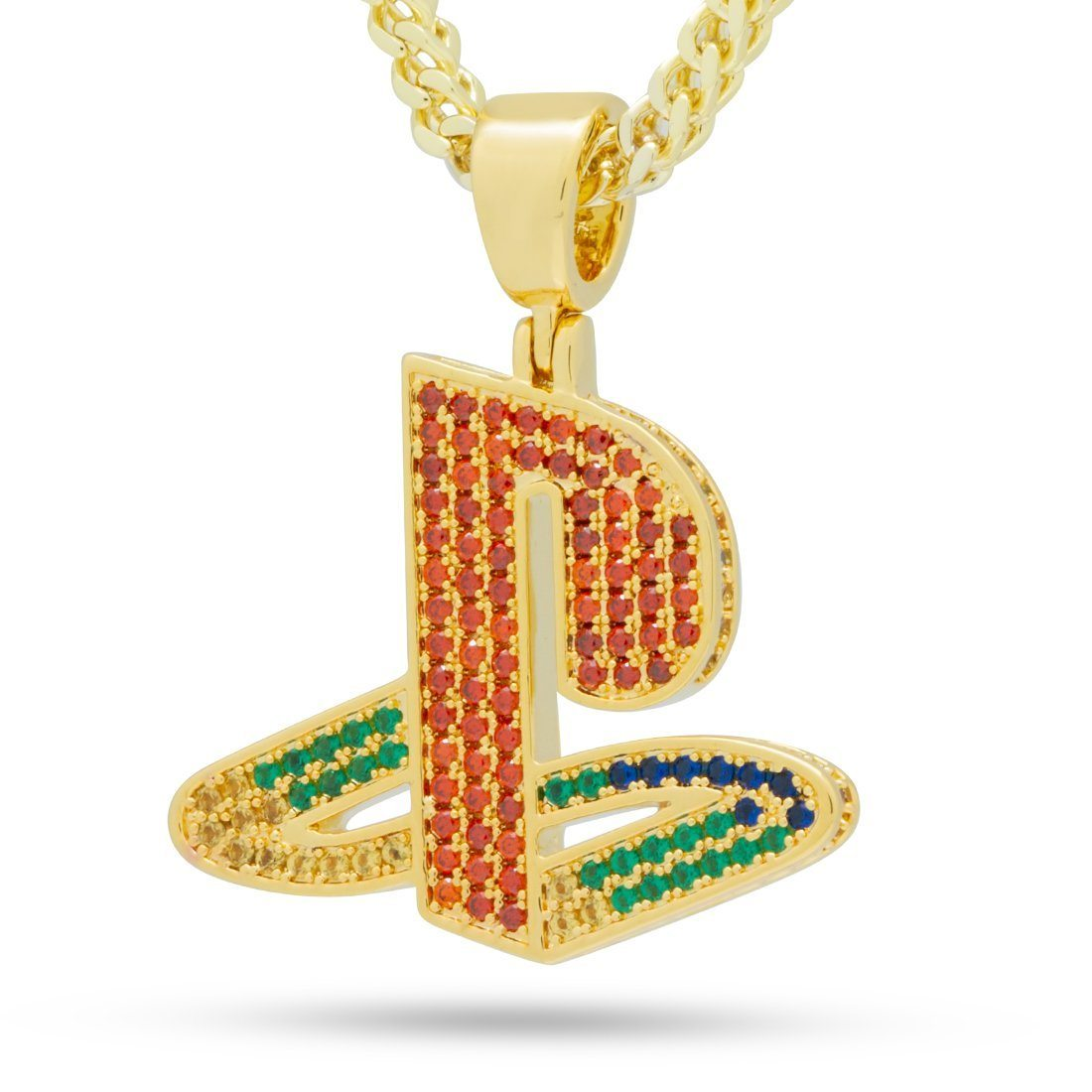 Image of Playstation by King Ice - Classic PS Logo Necklace