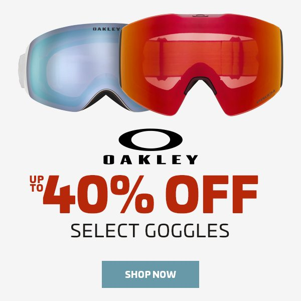 UP TO 40% OFF SELECT OAKLEY GOGGLES