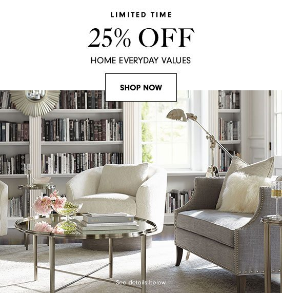 25% Off Home Everyday Values
