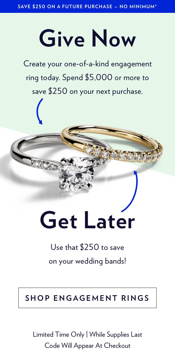 Engagement Ring Exclusive Offer 250 Off A Future Purchase Blue Nile Email Archive