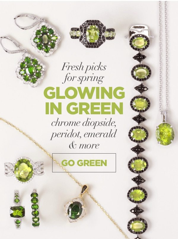 Fresh picks for spring glowing in green