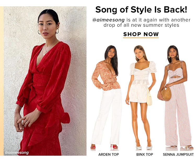 Song of Style Is Back! @aimeesong is at it again with another drop of all new summer styles. Shop now.