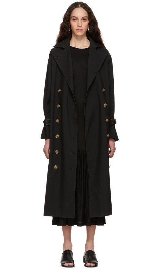 Totême - Black Pisa Trench Coat