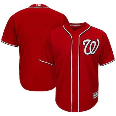 Majestic Washington Nationals Red Official Cool Base Jersey