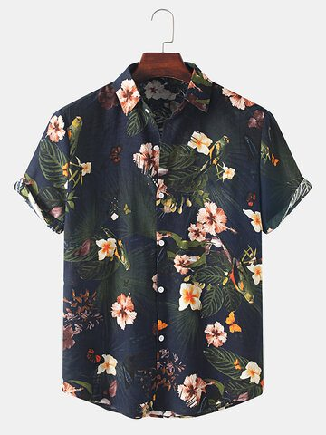 Vintage Floral Holiday Casual Shirt