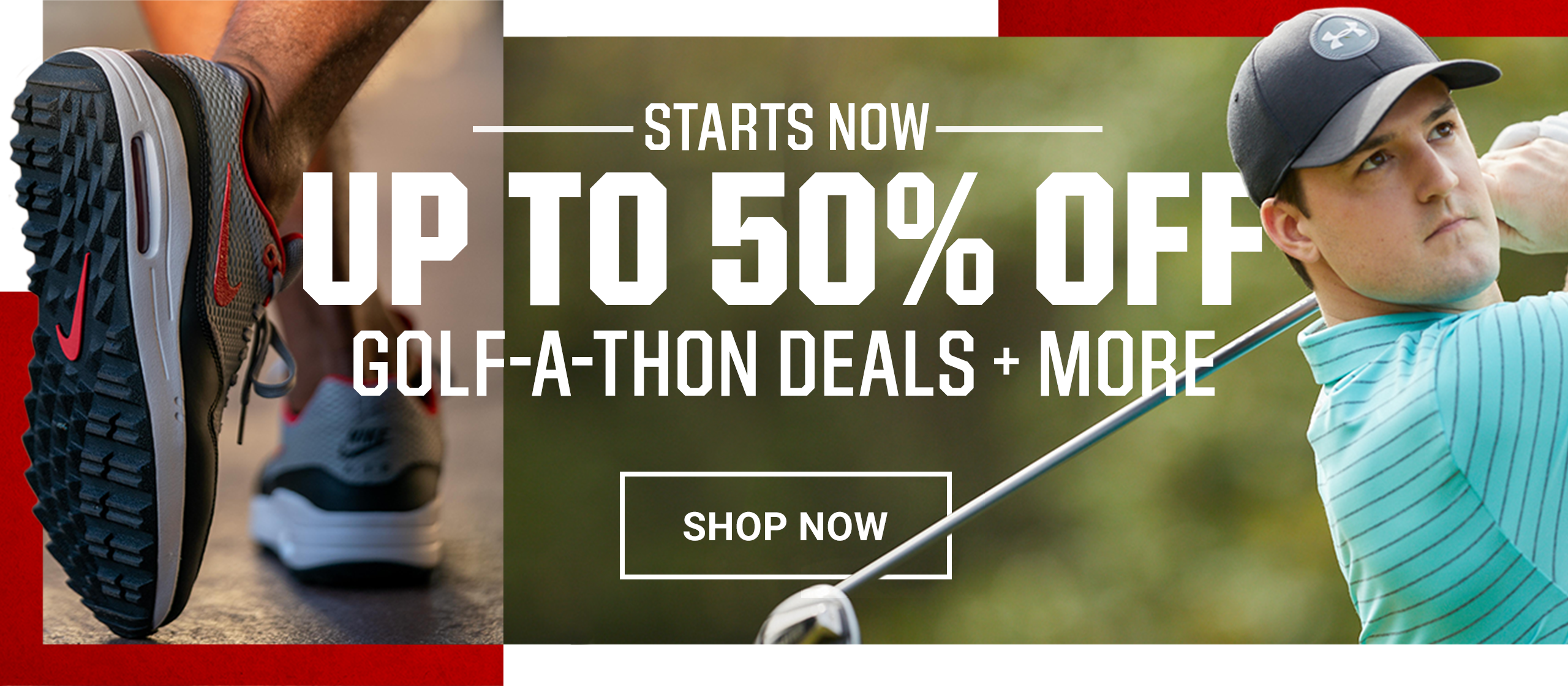 Starts Now, Up to 50% Off Golf-A-Thon Deals + More, Shop Now.