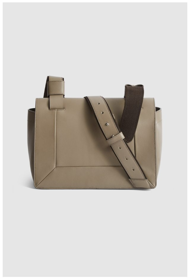 Alma Taupe Leather Sporty Cross Body Bag