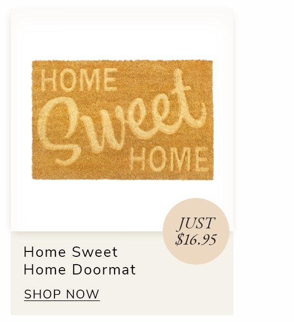 Natural Machine Tufted Embossed Home Sweet Home Coir Doormat, 16' x 24' | SHOP NOW
