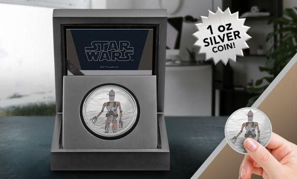 IG-11 1oz Silver Coin Silver Collectible by New Zealand Mint