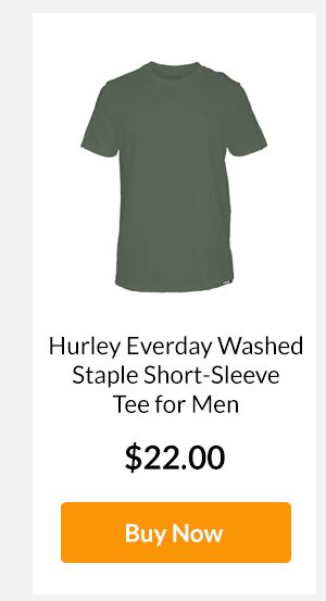 Hurley Everday Washed Staple Short-Sleeve Tee for Men