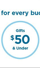 gifts $50 and under.