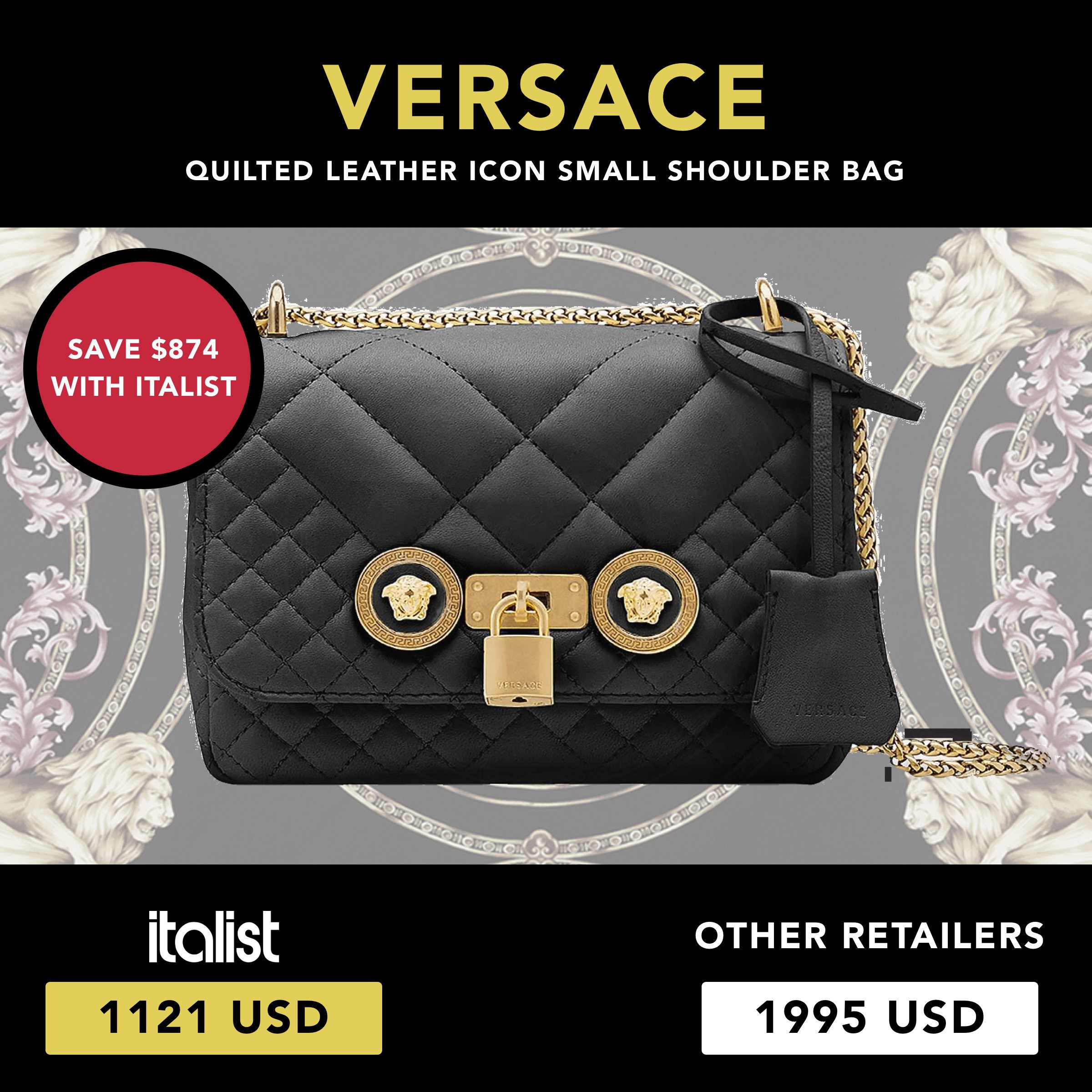 e3c70cf34f53 Sale alert! Save up to 44% on iconic Versace bag l Fall Winter ...
