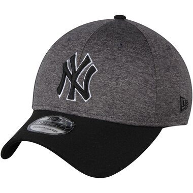 New York Yankees New Era Shadow Tech 39THIRTY Flex Hat - Heathered Gray/Black