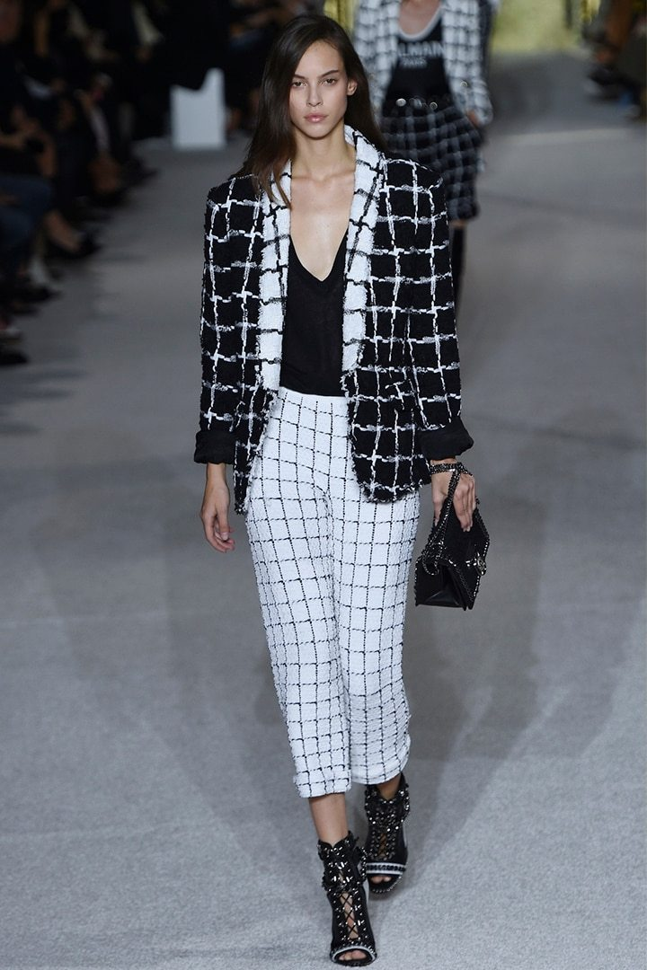 f8b32755 Join Olivier Rousteing's most stylish army in stark, yet sleek, monochrome  and trending silver. Extravagant pattern sits with molten metallics, ...