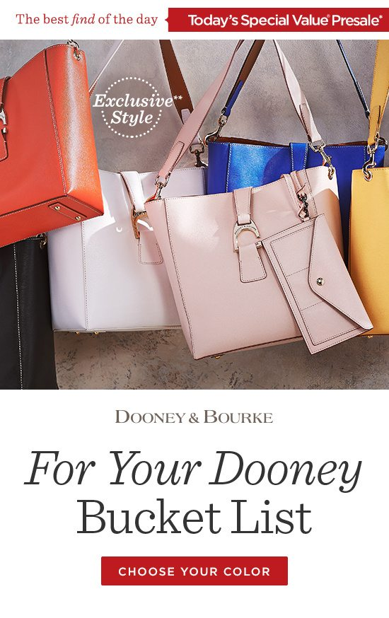 TSV Presale: Dooney & Bourke Leather Shoulder Bag - QVC Email Archive