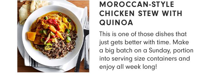 MOROCCAN-STYLE CHICKEN STEW WITH QUINOA