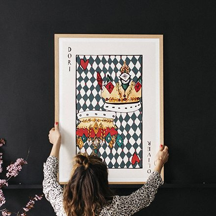 Personalised Playing Card Fine Art Print
