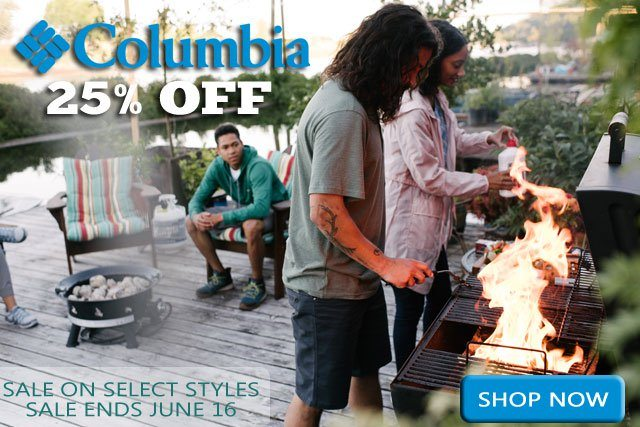 Columbia 25% OFF SELECT STYLES