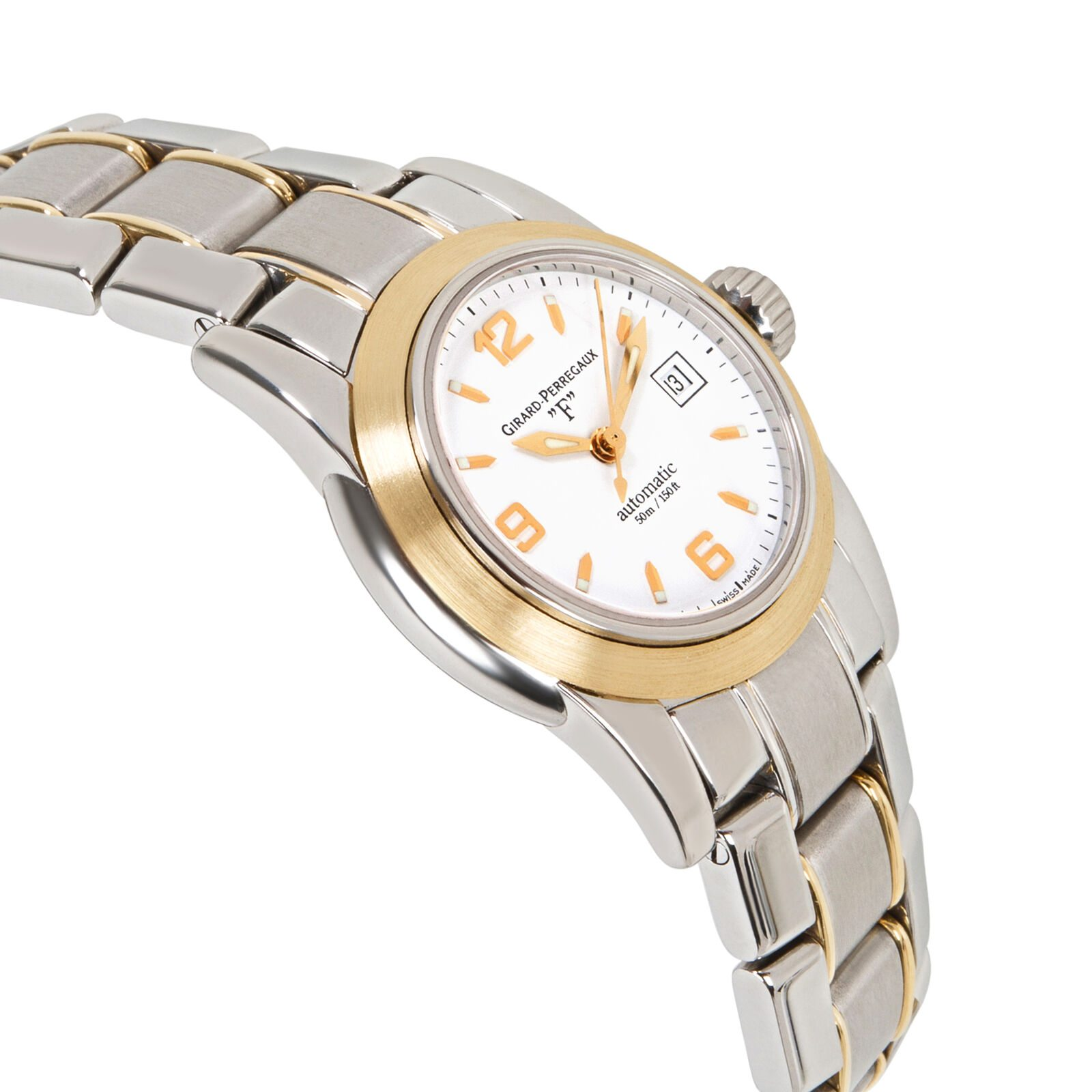Image of Girard Perregaux Lady F 80390 Watch in SS & 18K Yellow Gold