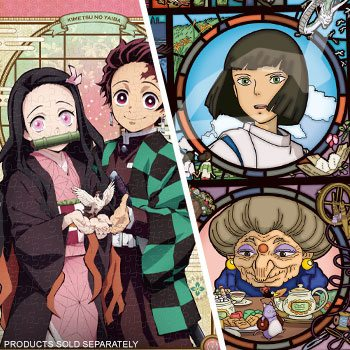 Spirited Away: News from a Mysterious Town (Spirited Away) and Tanjiro and Nezuko Artboard Jigsaw (Demon Slayer) Puzzle by Ensky