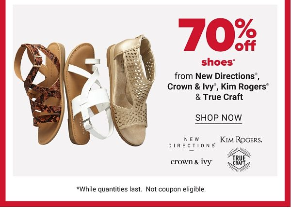 Daily Deals - 70% off shoes from New Directions®, Crown & Ivy™, Kim Rogers & True Craft™. Shop Now.