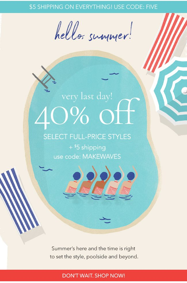 40% off select full-price styles