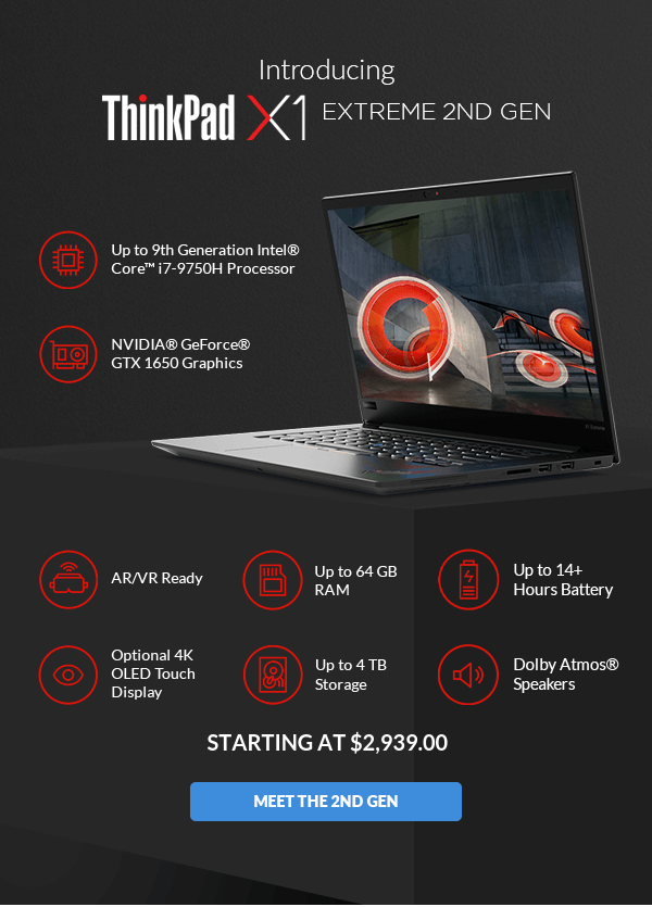 Meet the 🆕 2nd Gen ThinkPad X1 Extreme and P1 - Lenovo US