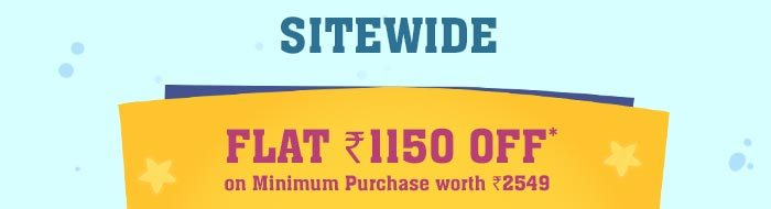 SITEWIDE - Flat Rs. 1150 OFF* on Minimum Purchase worth Rs. 2549