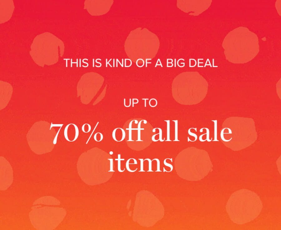Up to 70% off all sale items