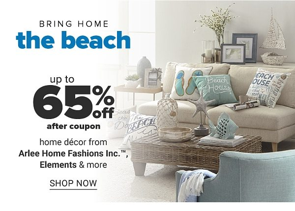 Bring home the beach - Up to 65% off after coupon home decor from Arlee Home Fashions Inc., Elements & more. Shop Now.