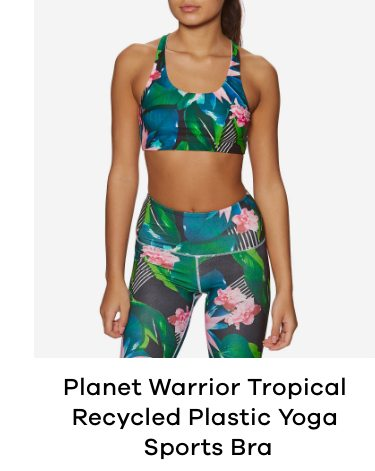Planet Warrior Tropical Recycled Plastic Yoga Sports Bra