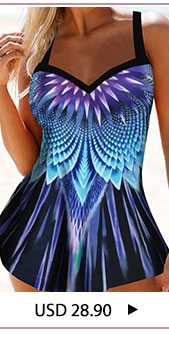 Printed Open Back Swimdress and Panty