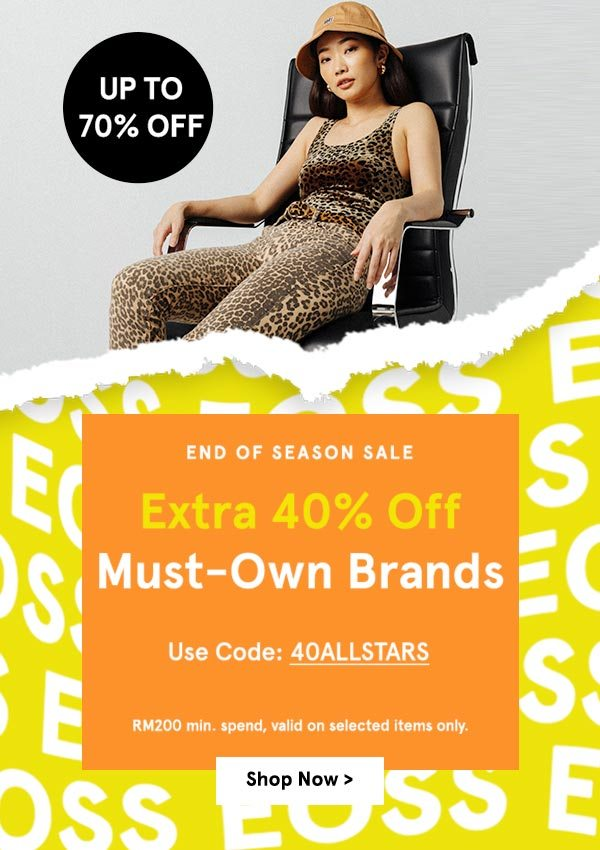 End of Season Sale: Up to 70% Off + Extra 40% Off!