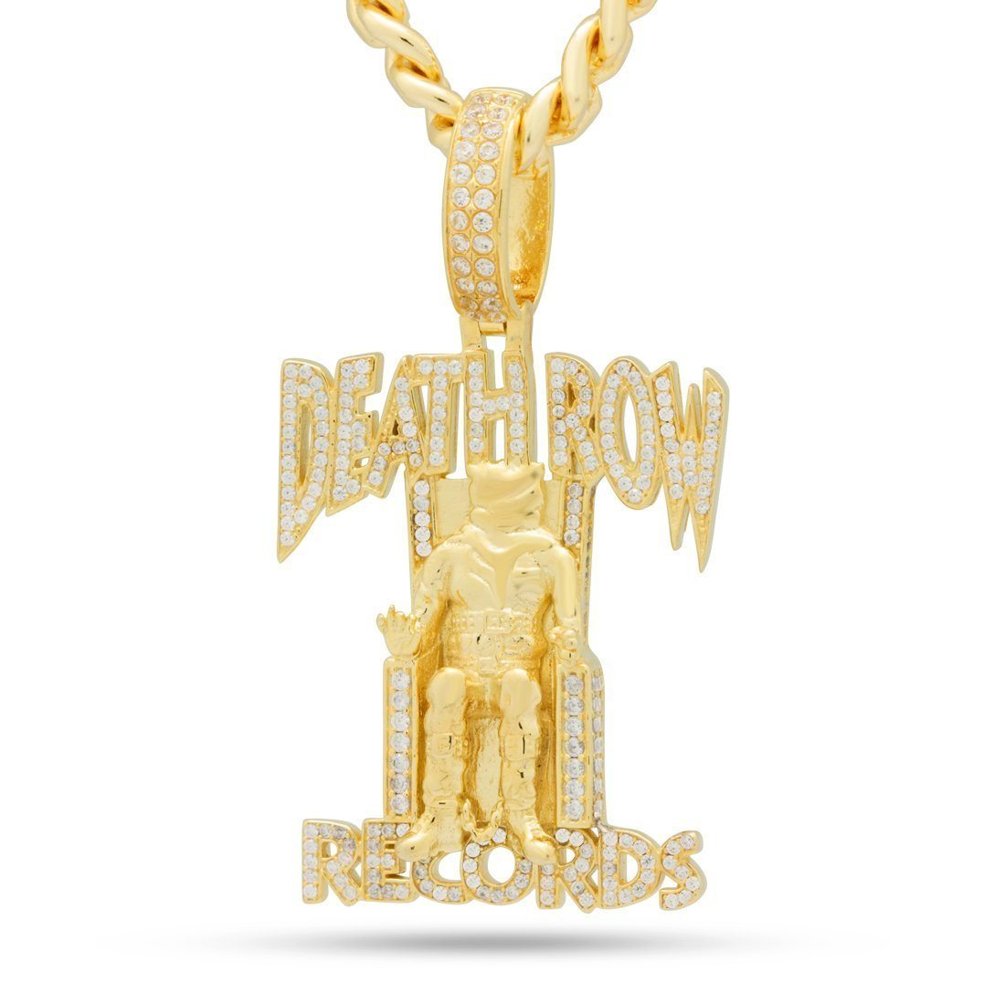 Image of King Ice x Death Row Records .925 Sterling Silver Iced Necklace
