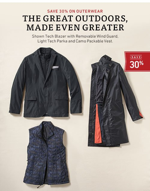 Save 30% on outerwear