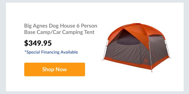 Big Agnes Dog House 6 Person Base Camp/Car Camping Tent